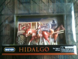 BREYER Stablemates Hidalgo Buffalo Bill Show Play Set #10306