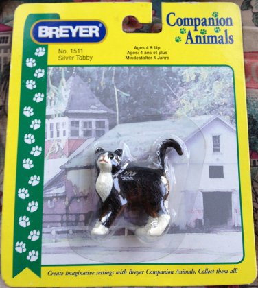 BREYER Companion Animals Silver Tabby Cat #1511