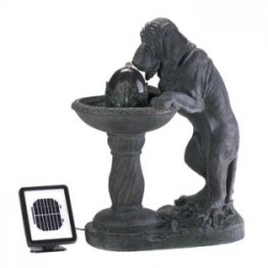 14769 - NEW> Thirsty Dog Solar Fountain