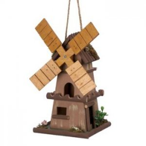 14777 - NEW> Whimsical Windmill Birdhouse