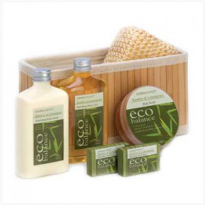 12992 ~ Bamboo Lemongrass Bath Basket ~ Mother's Day Special