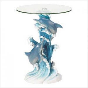38425 ~ Playful Dolphins Accent Table