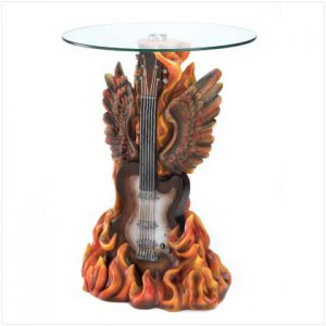 13412 ~ Rock N Roll Guitar Accent Table