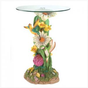 12267 ~ Hummingbirds Accent Table