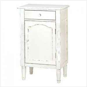 39093 ~ Graceful Antiqued Cabinet