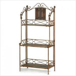 12516 ~ Rustic Baker`s Rack Shelf