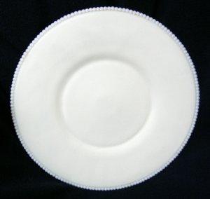 Westmoreland Beaded Edge Zodiac Torte (Charger) in Milk Glass