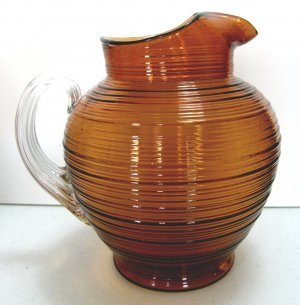 Imperial Glass, Line #701, Reeded AKA Whirlspool or �Spun� 80 oz. Pitcher