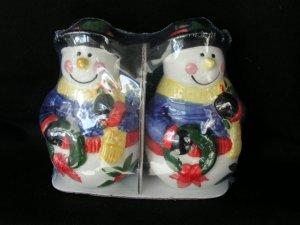 Snowmen Snowman Holiday Salt & Pepper Shaker Dispenser
