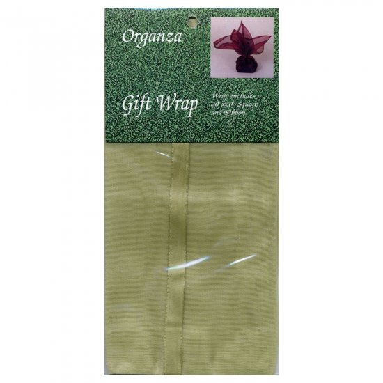 Gold Gift Wrap Square Organza Cloth with Ribbon