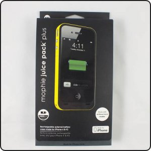 Mophie 2000mAh Battery Backup Cover for iPhone 4 4G