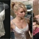 Gold Hawk studded silver moonbeam camisole aso Jessica Simpson