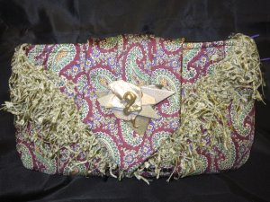 multi color tie purse