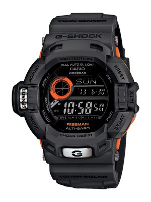 CASIO Riseman G-Shock G9200 G9200GY-1 G9200GY-1 Smoky Gray Free Ship!