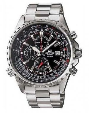 CASIO EDIFICE EF527D-1A MENS BLACK DIAL 100M STAINLESS STEEL CHRONOGRAPH WATCH