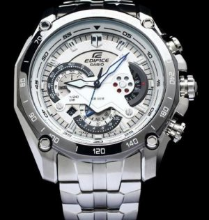 CASIO EF550D-7A EDIFICE MENS SOLID STAINLESS STEEL CHRONOGRAPH DRESS WATCH 100M