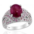 Ruby, Pink Sapphire Ring, Sterling Silver (Size 10) TGW 8.89 cts. (Retail $391)
