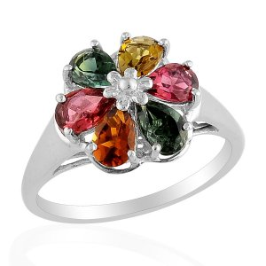 Tourmaline Ring in Sterling Silver (Size 9) TGW 2.33 cts. (Retail $251)