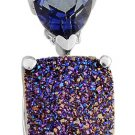 Drusy, Topaz Pendant With Chain (18 in) Sterling Silver TGW 6.35 cts. (Retail $323)