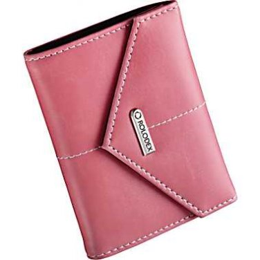 Rolodex® Pink Ribbon 36-Card Faux Leather Personal Card