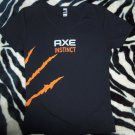 Axe Instinct Ladies Size Medium Fitted V-Neck T-Shirt