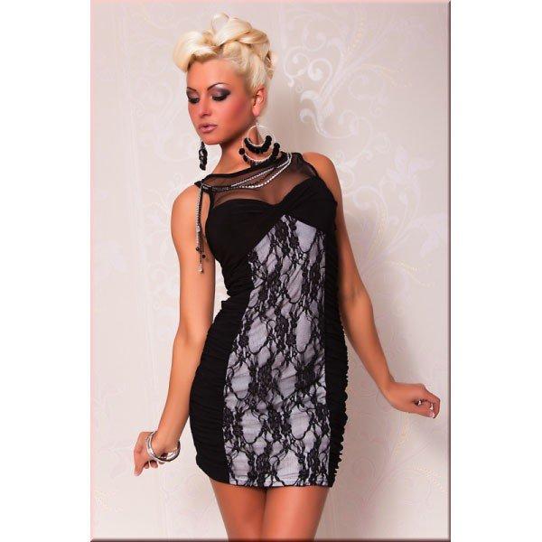 Black & White Lace Club/Party Dress - Size: Small/Medium