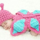Baby Crotchet Butterfly Photo Prop Outfit - Size 0-9 mo