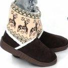Winter Booties Deer Design Size 6-6.5