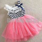 Striped Tutu Dress - Pink Size 2T