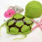 Baby Crochet Turtle/Tortoise Photo Prop Outfit - Size 0-9 mo