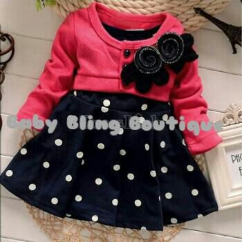Polka Dot Blue, Pink & White Tutu Dress Size 3T