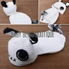 Baby Crochet Puppy/Dog Photo Prop Outfit - Size 0-9 mo