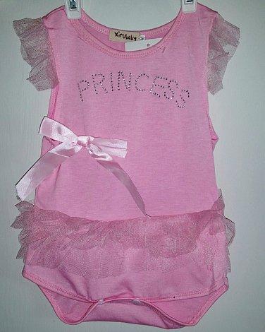 Pink Girl's Princess Tutu Onesie Size 12-18 months
