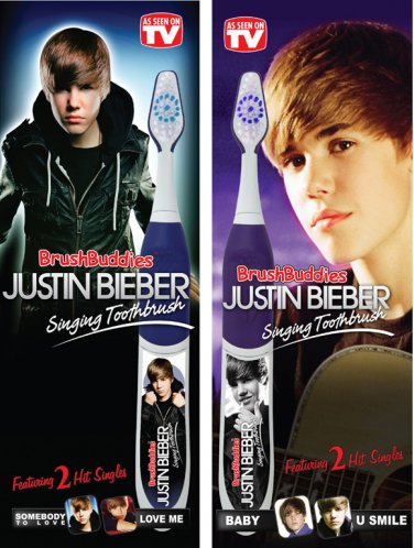 Justin Bieber Singing Toothbrush Set  (2-toothbrush set)