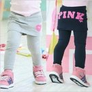 Pink Brand Size 4 Girls navy blue legging pants with skirt