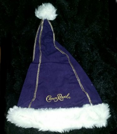Crown Royal purple Santa hat / Elf hat