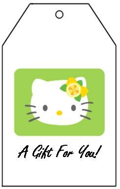 Hello Kitty Gift Tags - Set of 10 w/twine ties