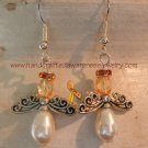 Orange, Ribbon, CRPS, RSD, MS, Awareness, Guardian Angel, Earrings; item# GAEO