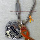 "CRPS, RSD, Orange, Ribbon, Awareness, ""Fight the Fire"", Heart, Key Chain; item# FFHK"