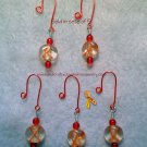 Mini Orange Ribbon Christmas Ornaments