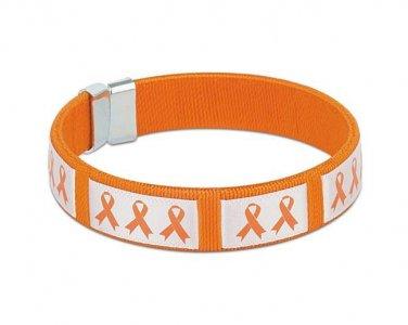 Orange, Ribbon, Awareness, Flexible, Fabric, Bangle, Bracelet