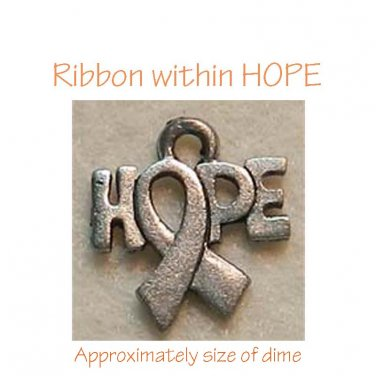 Awareness Ribbon within HOPE Charm
