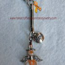 Orange, CRPS, RSD, MS, Awareness, Guardian Angel, Hope, Key Chain