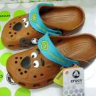 CROCS™ scooby-doo kids children brown shoe SZ:6C7-12C13