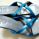 CROCS™ CYPRUS High Heels blue&silver sz;W6-W9=EUR37-40