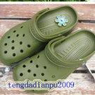 Crocs beach clogs men's Army green shoes sz;XS S M L XL