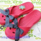 CROCS™ audrey red women's shoes Sz:W5-W8=EUR35-39