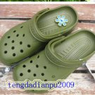 New Crocs™ beach clogs men's Army green shoes sz;XS S M L XL