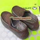 New CROCS™ linden coffee leather men's shoes sz:M7-M11