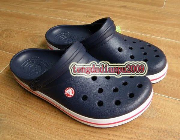 CROCS crocband children's Boys blue shoe sz:6C7-12C13